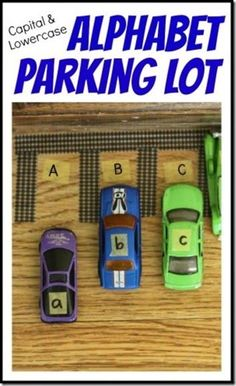 alphabet parking lot #alphabet #cars #preschool----cute idea for my teacher friends