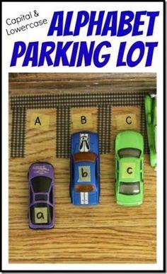 alphabet parking lot #alphabet #cars #preschool----cute idea for my teacher friends