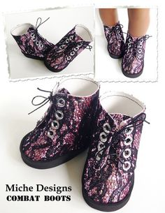 Miche Design low cut boot pattern. These are so adorable! Original pattern found at pixiefaire.com.
