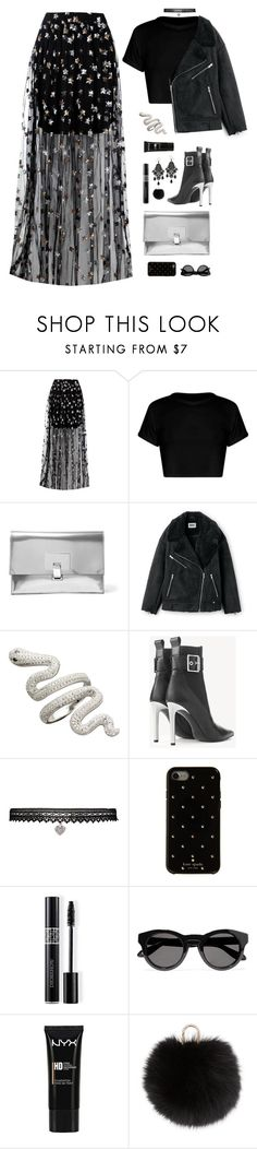 """crying in the club"" by ishipbullshit ❤ liked on Polyvore featuring Boohoo, Proenza Schouler, rag & bone, Betsey Johnson, Kate Spade, Christian Dior, Givenchy, NYX, Yves Salomon and afterparty"