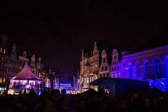 14. Rostocker Lichtwoche | beleuchtete Rostocker Innenstadt beim Rostocker Lichfest (c) Frank Koebsch
