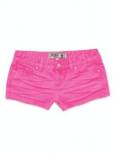 PINK Neon Denim Cut-Off Shorts