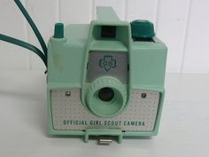 1950s GIRL SCOUT Camera Damaged Mint Green by NewLIfeVintageRVs, $54.00