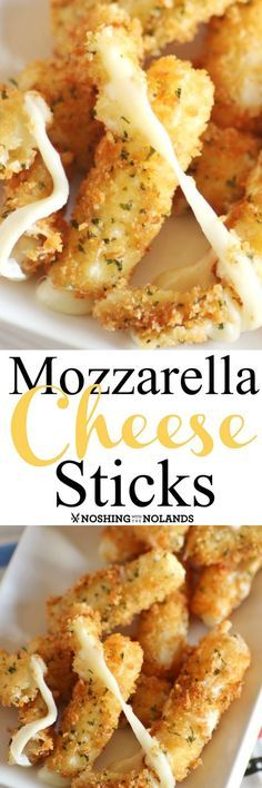 Mozzarella Cheese Sticks by Noshing With The Nolands are an ooey gooey appetizer that will be a hit any where they are served!