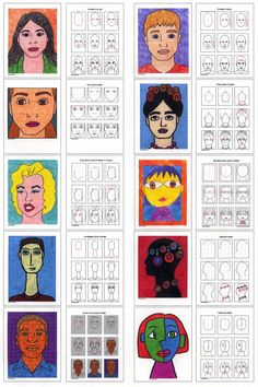 Drawing Portraits - Faces Places diagram - Discover The Secrets Of Drawing Realistic Pencil Portraits.Let Me Show You How You Too Can Draw Realistic Pencil Portraits With My Truly Step-by-Step Guide. Middle School Art, Art School, Arte Elemental, Frida Art, 4th Grade Art, Art Worksheets, Ecole Art, Art Curriculum, School Art Projects