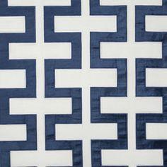 Robert Allen Carioca Key in Island Blue Geometric Fabric, Beacon Hill, Bird Perch, Window Styles, Fabric Decor, Robert Allen, Island Blue, Pattern, Upholstery