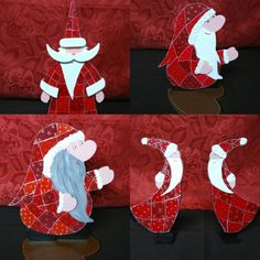 Pères Noël arlequins