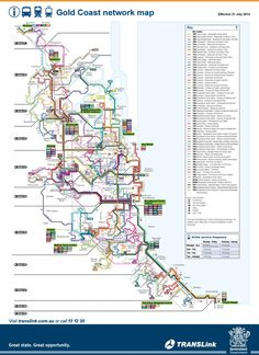 Gold Coast bus, train and tram map