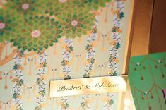 Tree bells printed invitation card