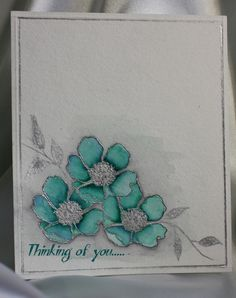Holstein, Splitcoaststampers FOOGallery: Stampin' Up Fabulous Florets; watercolor with markers Scrapbook Cards, Scrapbooking, Beautiful Handmade Cards, Heartfelt Creations, Watercolor Cards, Sympathy Cards, Copics, Paper Cards, Flower Cards