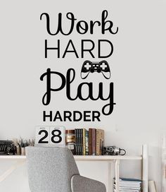 Vinyl Wall Decal Gaming Quote Video Game Play Room Stickers Unique Gift  (ig4545)