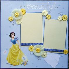 12x12 Premade scrapbook layout Featuring Snow White by ntvimage, $13.99