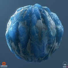 Got inspired after messing around with SSS and translucency so I decided to make this material study of thick blue ice with pockets of snow. 100% Substance Designer, rendered in Marmoset.