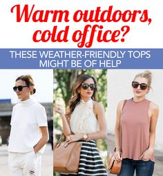 Tired of lugging a jacket around, or donning sweater when you're in the office and then having to pull it off when you step out of the building? Yes, we are too. Our solution? High-neck tops.