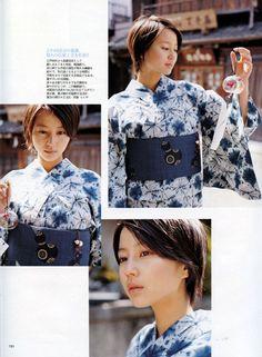 堀北真希 Japanese Style, Japanese Beauty, Short Hair Cuts, Short Hair Styles, Girl Haircuts, Yukata, River, Kawaii, Kimonos