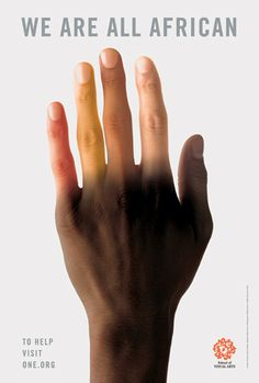 Milton Glaser - We Are All African, poster, 2005. A social awareness campaign, to bring recognition of our solidarity with African people today.
