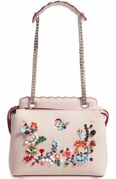 Main Image - Fendi Small Dotcom Leather Shoulder Bag Shoulder Handbags bfc9db183de54