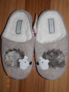 Primark-ANIMAL-NOVELTY-Slippers-HEDGEHOG-or-PENGUIN-Mules-Ladies-Girls
