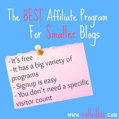 The BEST Affiliate Program For Smaller Blogs | CalledHis.com | My thoughts :) I really love Moms Affiliate and I'm glad I didn't wait to monetize like some people said.