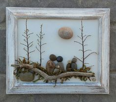 Outdoor Pebble Family of Five.  ETSY in CRAWFORD BUNCH