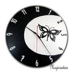 HORLOGE FEE PAPILLON AU CLAIR DE LUNE - Boutique www.magicreation.fr