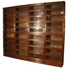 Big Mahogany Globe Wernicke Bookcase For Sale at 1stdibs
