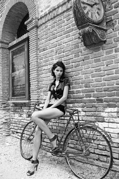 "girls-on-bicycles: "" Girls On Bicycle "" Women's Cycling, Cycling Girls, Bicycle Women, Bicycle Girl, Cycle Chic, Bike Style, Pretty Lingerie, Biker Girl, Beautiful Legs"