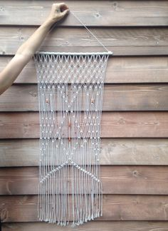 Macrame wall hanging by ThisTumbleweed on Etsy https://www.etsy.com/listing/203252918/macrame-wall-hanging