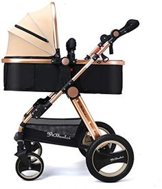 YBL Newborn Infant Baby Stroller and Toddler Folding Convertible Kids Doll Carriage Rubber Four Wheels Luxury High View Anti-Shock Pram Child Doll, Convertible, Baby Strollers, Infant, Kids Fashion, Wheels, Dolls, My Favorite Things, Stars