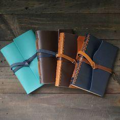 """From left to right Basic-2: Mint Basic-2: Torinos Statu Varus: navy blue . Kini akun official line kami berubah menjadi '@hibrkraft' (pakai @). Add @hibrkraft (please use """"@"""") di LINE kamu atau chat langsung untuk pemesanan order pricelist dan katalog! Selain itu kami juga akan post info dan trivia menarik seputar dunia penulisan journalling sketch dan lainnya :) . . #journal #productphotography #handicraft #leather #bukuunik #travelnote #photography #bookbinding #booklover #handmade…"""