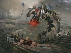 Reaperized Kalros (Thresher Maw) by AndrewRyanArt on DeviantArt - This.this would be terrifying. The one living organism shown to have the power to murder a reaper turned into one. Mass Effect Reapers, Tali Mass Effect, Mass Effect Universe, Commander Shepard, Robot Concept Art, Futuristic Art, Fantasy Character Design, Fantasy Characters, Hd Wallpaper