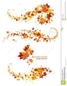 Autumn Leaves Design Elements Stock Photography - Image: 32184882