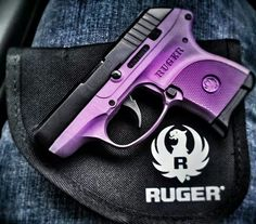 My stepdad is kind of obsessed with me having something pink maybe he will settle with purple?..... Ruger® LCP 9mm Pistol ♥ concealed carry