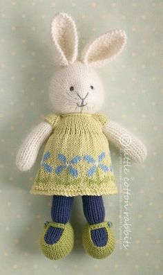 Knitted rabbit doll