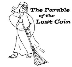 Luke 15: Three Parables; Parable of the Lost Coin Coloring