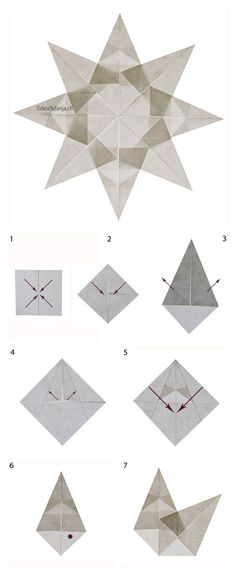 December ~ Advent ~ Week One: The Light of Crystal & Stone ~ White Window ~ Folding Instructions