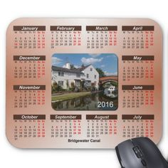 Glorious England 2016 Calendar Mouse Pad.  The Bridgewater Canal. The Bridgewater Canal is sometimes described as England's first canal.