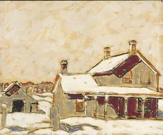 David Milne - Ollie Matson's House in Snow, 1932 Oil on canvas x cm National Gallery of Canada, Ottawa Gift of Vincent Massey, 1936 Photo: NGC Canadian Painters, Canadian Artists, Great Paintings, Landscape Paintings, David Milne, Canada Images, Painting Snow, Canvas Art, Canvas Prints