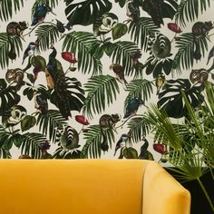 Amazonia Light wallpaper by Witch and Watchman, made in Dalston