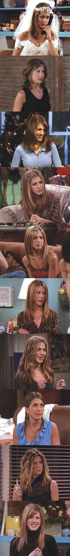 Here's how Rachel (and Rachel's hair) evolved over 10 years of Friends.