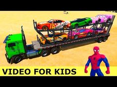 Lightning Mcqueen Cars & Truck in Spiderman Cartoon with Nursery Rhymes Songs for Kids - YouTube