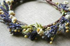 Lavender and Daisies Flower Crown