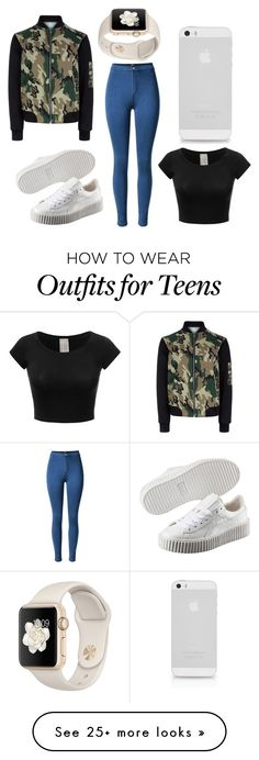"""""""kinda kool"""" by tumblr-outfits12 on Polyvore featuring New Look and Puma"""