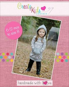Comfort AND style…Haven's has it all! This classic hoodie design is perfect for every day! With an oversized circle hood and flattering bands, it's a MUST HAVE! Choose from shirt or dress length. The perfect addition to your pattern collection! This pattern is designed for use with knit fabrics.