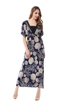 ZadaLand Women's V-neck Exotic Printed Boho Long Casual Summer Maxi Dress Plus Size *** To view further, visit now : Plus size dresses