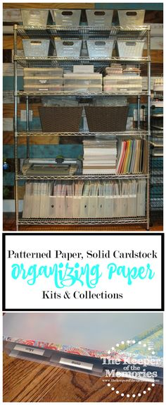 Are you struggling to organize all of the paper you've accumulated in your creative space? Do you have too much patterned paper and solid cardstock that you're not quite sure what to do with? This post is full of awesome ideas for organizing it all. Check it out!