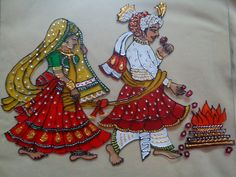 ideas wedding gifts ideas for bride and groom in india for 2019 3d Art Painting, Phad Painting, Glass Painting Designs, Mirror Painting, Wall Art Designs, Paint Designs, Fabric Painting, Diy Embroidery, Embroidery Designs