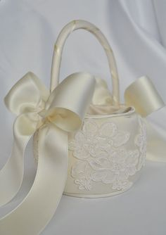 Ivory and Tiffany Blue Wedding Flower Girl Basket with Rhinestone Accents - Ivory Flower Girl Basket Lace Flower Girls, Flower Girl Basket, Flower Girl Dresses, Wedding Pillows, Ring Pillow Wedding, Recycled Wedding, Blue Wedding Flowers, Pink Flowers, Cheap Flowers