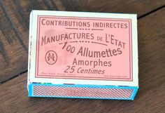DIY French Matches