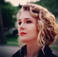 """""""Life's too short for so much sorrow""""    This quote means the world to me♥ and Lilly Rabe is so gorgeous!"""